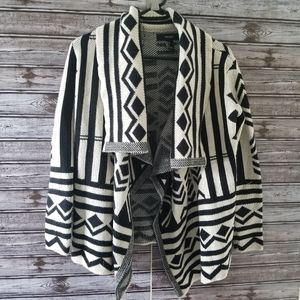 Forever 21 Open Front Aztec Cardigan Size S